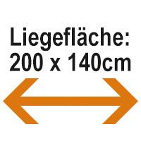 200 x 140cm
