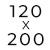 200 x 120 cm
