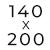 140 x 200 cm