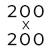 200 x 200 cm