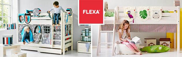 Flexa Classic Kombi Etagenbett 90x190cm Mit Gerader Leiter