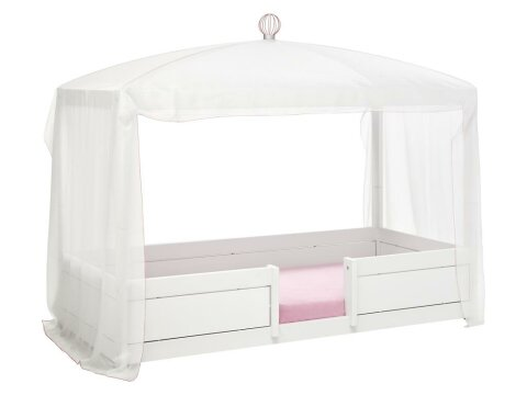 Lifetime Kidsrooms Betthimmel  für 4 in 1 Bett Weiß / Rosa