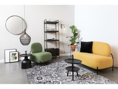 White Label Living Polly Lounge Sofa Retro Look  in Gelb