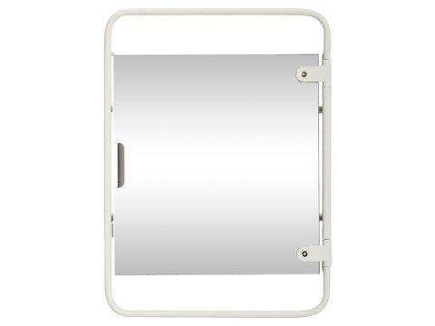 Hübsch Metall Wandregal mit Spiegel Weiß