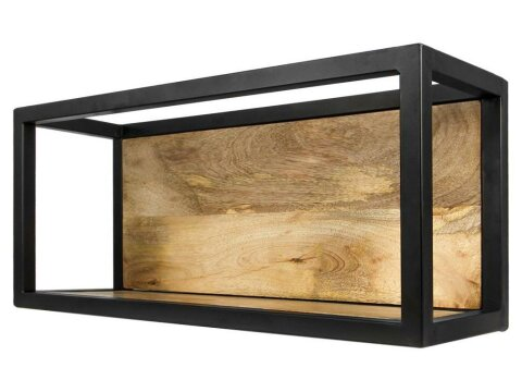 HSM collection Wandregal Levels Mangoholz Eisen 55cm