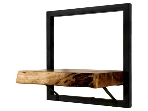 HSM collection Wandregal Levels Live Edge Akazie Eisen 32cm