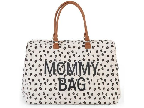 Childhome Wickeltasche Groß Mommy Bag Canvas Leopard