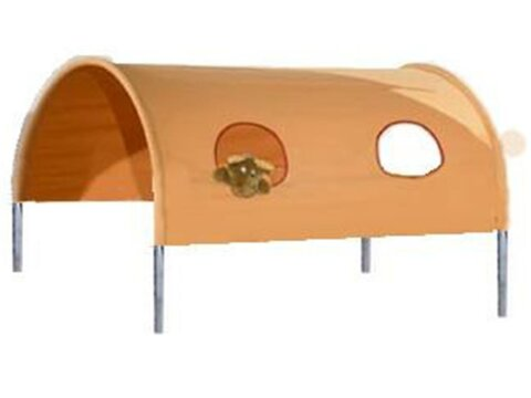 Betttunnel für Kinderbett, Dolphin Multicolor Orange (N20), Aquamarin (N27)