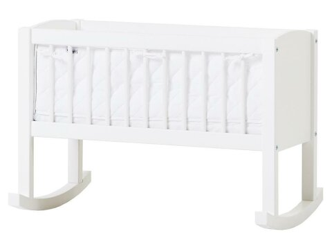Nestchen Weiß für Babywiege gesteppt 80x40cm, Hoppekids