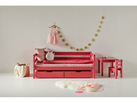 Hoppekids IDA-MARIE Bettschubladen Set auf Rollen Baroque Rose (2er-Set)