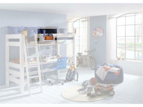 Hängeregal mit 1 Boden, Dolphin, Wandmontage oder zum Anhängen an Dolphin Betten