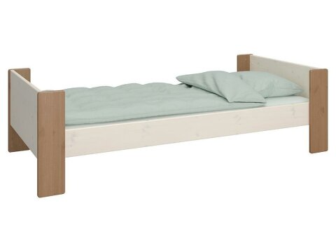 Steens for Kids Einzelbett inkl. Rolllattenrost White Wash/Stone 90 x 200 cm