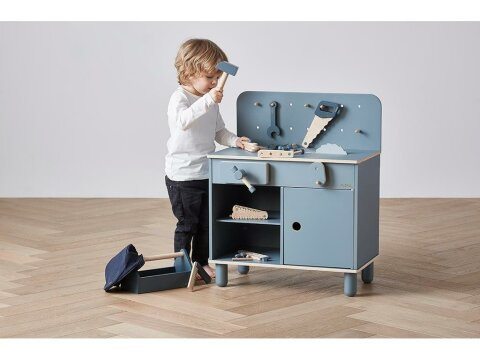 Werkzeugsatz 8tlg. Dark Blue Natur, Flexa Workbench