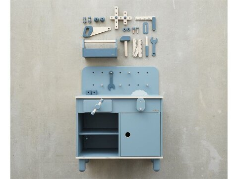 Flexa Workbench Kinder Werkbank Dark Blue