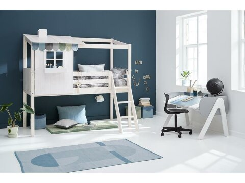 Flexa Classic House Girlande Farbe Frosty Blue, Moss Green und Mountain Grey