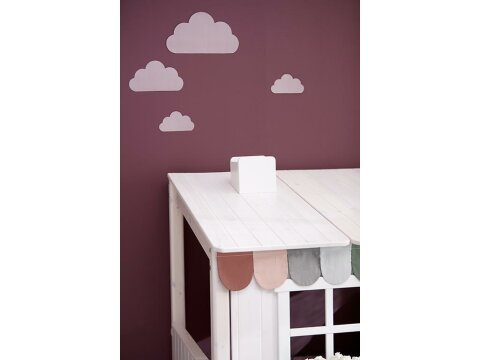 Girlande Farbe Misty Rose, Moss Green und Mountain Grey, Flexa Classic House