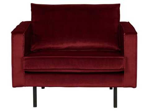 BePureHome Rodeo Sessel Samt Rot