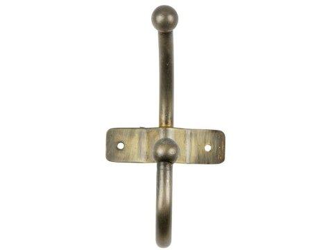 Woood Wandgarderobe Metallhaken mit 1 Haken Messing Antik