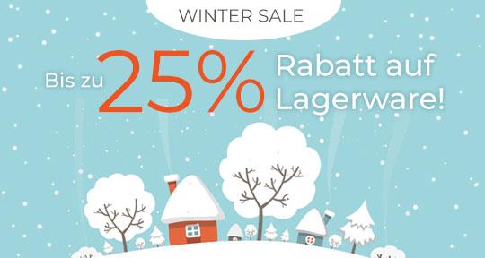 Bis zu 25% Rabatt auf Lagerware